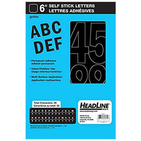 """Lettres et chiffres en vinyle Geosign Lettres noires majuscules 150 mm (6"""")"""