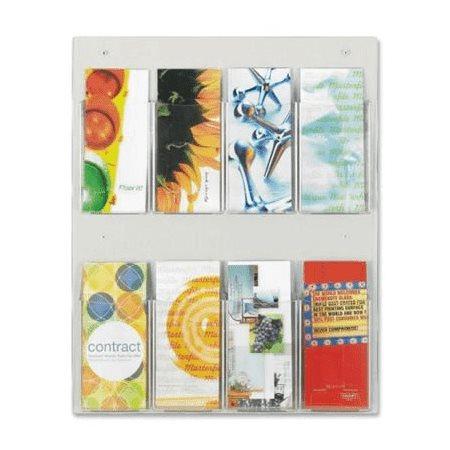 Présentoir mural pour brochures Clear2c™ 8 Pochettes 19-1 / 4 x 3 x 23-1 / 2 po H