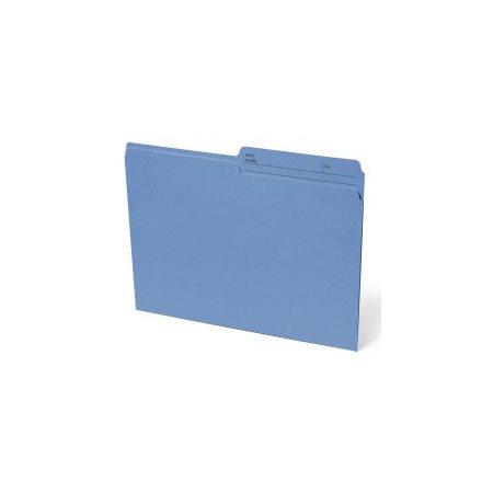 Chemise à dossier réversible Format lettre bleu