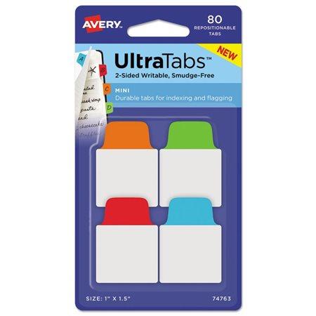 Mini languettes UltraTabs™ bleu, vert, orange, rouge