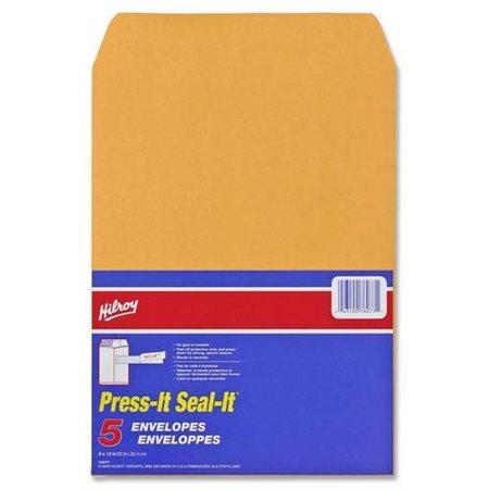 Enveloppe kraft Press-it Seal-it® 9 x 12 po. (5)