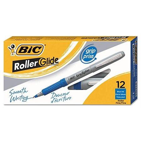 Stylos à bille roulante Grip Roller 0,5 mm, boîte de 12. bleu