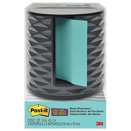 Distributeur de feuillets-éclair Post-it® noir et gris