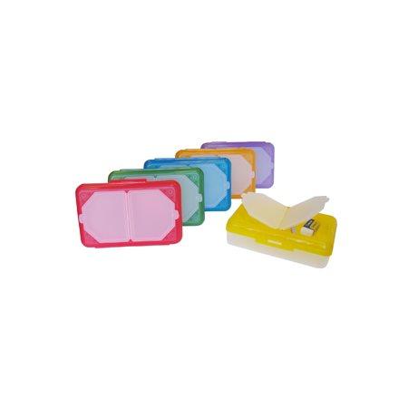 Boîte de plastique avec compartiments pour crayons (assortis)