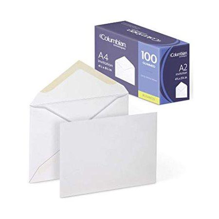 "Enveloppe blanche pour invitation 4-3 / 8 x 5-3 / 4"""