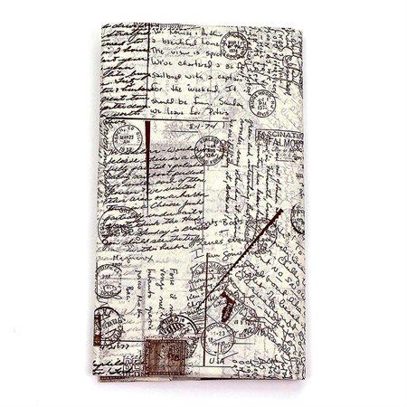 Ensemble papier de soie: carte postale