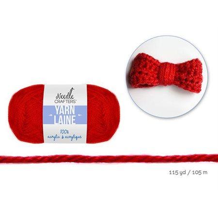 Laine 100% acrylique -Rouge