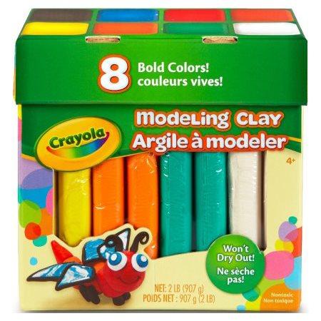 Argile à modeler; 8 couleurs vives