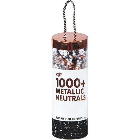 Pot de perles 1000+ - Métallique neutre