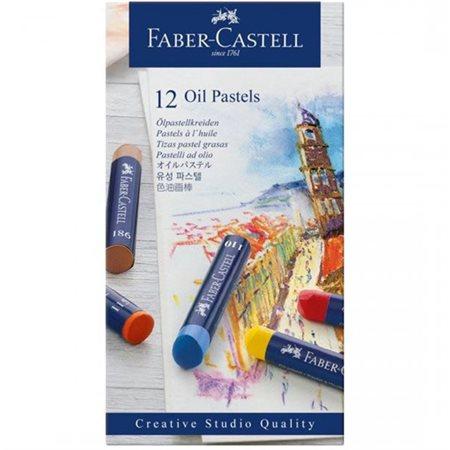 Ens. studio pastel à l'huile pqt.12