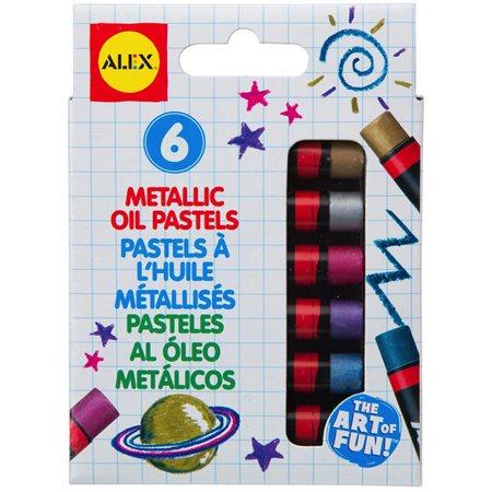 Pastels à l'huile 6 couleurs métalliques