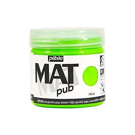 Acrylique mat vert fluo 140ml