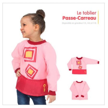 Tablier PP: Rose, Passe-Carreau 4 / 6