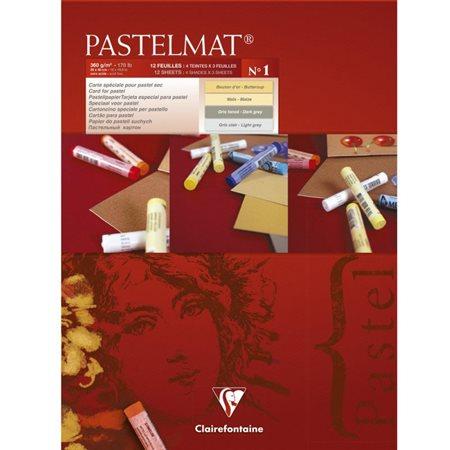 "Papier Pastelmat, 30 X 40"", 4 teintes(12 feuilles)"