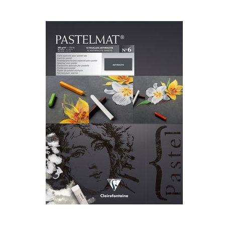 """Papier Pastelmat, 30 X 40"""", Anthracite"""