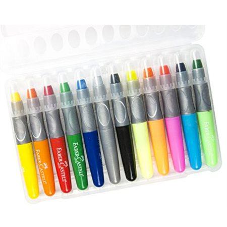 Crayon en gel, boîte de 12