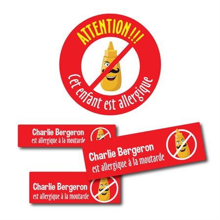 Colle-Partout: Allergie Moutarde