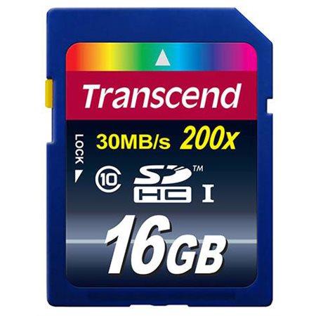 Transcend 16 Go Carte mémoire SDHC Classe 10