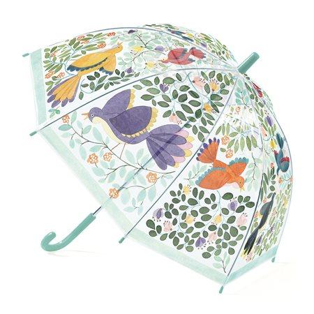 Parapluie, Fleurs et oiseaux