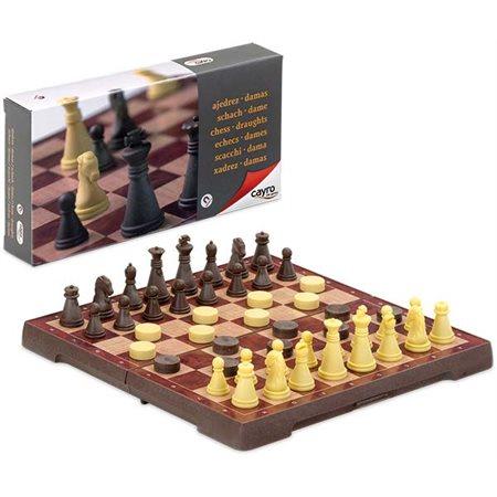 Petit jeux d'échec et de dames magnétiques