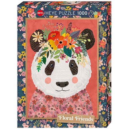 Casse-tête: Amis floraux,Panda réconfortant (1000)