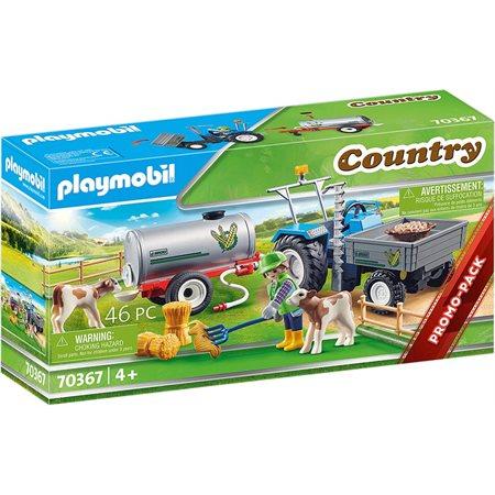 Playmobil Country-Agriculteur+faucheuse et citerne