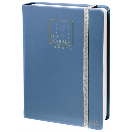 Agenda perpétuel life journal infinite bleu