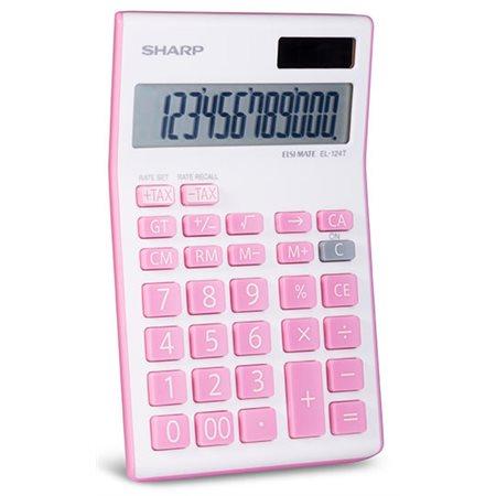 Calculatrice écran géant 12 chiffres, rose