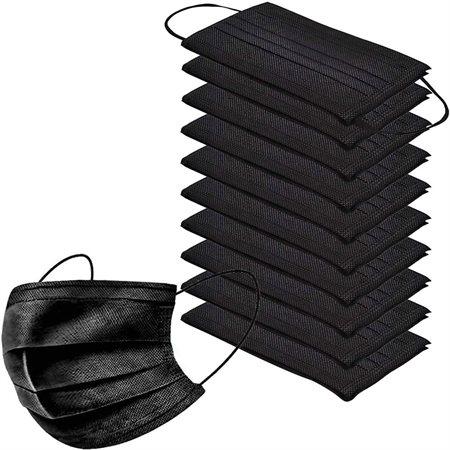 Boîte de 50 masques noirs jetables