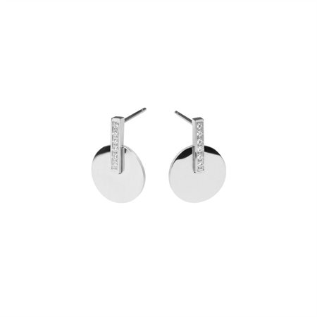 Boucles d'oreilles rondes rétro: Argent