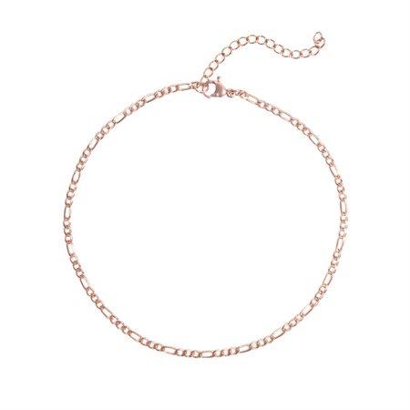 Bracelet de cheville Mini Figaro (or rose)
