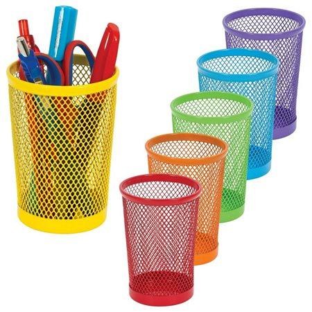 Pot à crayons mesh couleur ass.