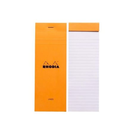 Bloc ligné #8 Rhodia 74 x 210  orange