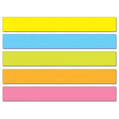 Bandes de phrases multicolores lignées