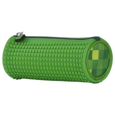 Pxie: Étuis à crayons cylindre damier vert / vert