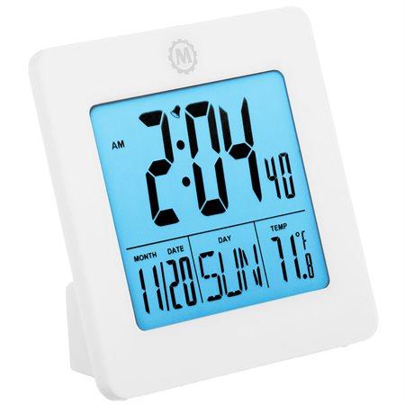 Horloge numérique de voyage ou de bureau blanc