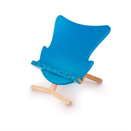 Porte-livre ou tablette chaise de bleu