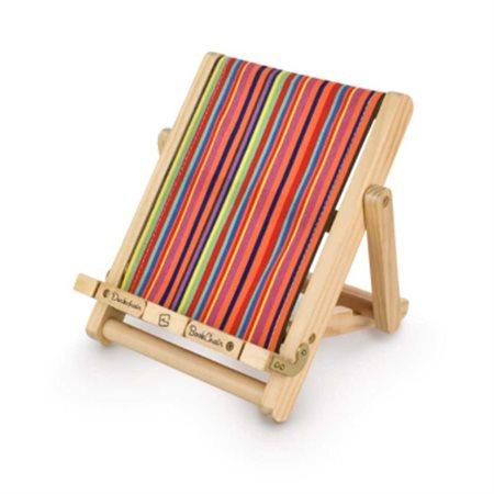 Porte-livre ou tablette chaise multicouleur