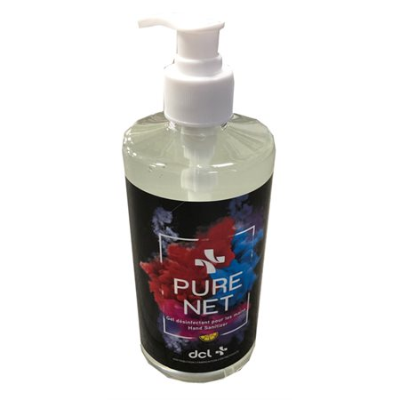 Gel désinfectant à mains PureNet 500ml avec pompe